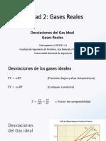 Clase 3 y 4- Unidad 2 - Gases Reales