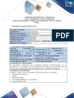 Guia de Actividad y Rúbrica de Evaluación - Tarea 1 - Seres Vivos