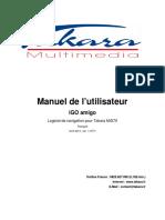 Tablettes Tactiles Multimédia, eBook Readers TAKARA - Manuel de navigation IGO Amigo - mid70_nav_fr.pdf