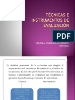 Técnicas e Instrumentos de Evaluación