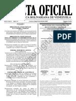 Gaceta Oficial 41612 Sumario