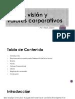 Misión, Visión y Valores Corporativos Sonia Aguirre