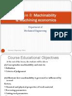 9. Machinability