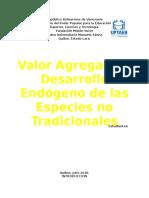 Valor Agregado y Desarrollo Endogeno