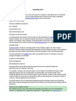 accounting basic terminologies