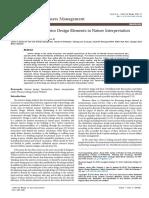 The Evaluation of Interior Design Elements in Nature Interpretation Centre.pdf