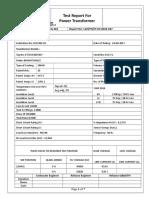 Power Transformer Test 007 BHARAT
