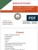 Petroleum waxes