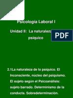 Unidad II-La Naturaleza de Lo Psíquico-Alumnos-2017