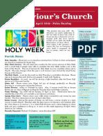 st saviours newsletter - 14 april 2019 palm sunday