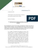 Ne'EmneiEretz Letter to Mr.obama