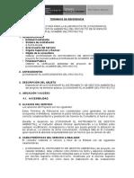 Terminos de Referencia para certificacion ambiental