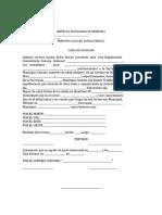 Carta Ocupaciòn