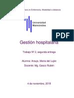 3) Gestion Hospitalaria, Araujo Lujan. 2do Trabajo, 2do Cuatrimestre.
