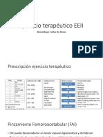 Ejercicio Terapeutico EEII - Cadera y Rodilla