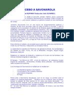 Proceso a Savonarola de Michel SUFFRAN