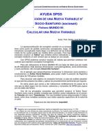 Ayuda SPSS_Construcción de una nueva variable_Índice Socio-Sanitario, Rubén José Rodríguez