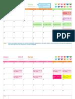 Calendario para accion social