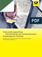 Dp Produktbroschuere Postzustellungsauftrag 2018