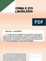Tema Albañileria Norma e70