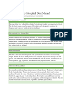 what does my hospital diet mean