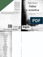Odas y Sonetos  - John Keats
