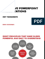 Effective Powerpoint Presentations Key Takeaways