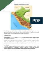 El Territorio Peruano Está Dividido Por Tres Regiones