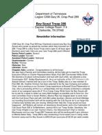 newsletter info troop 289