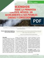 Incendios en El Bosque La Primavera Jalisco