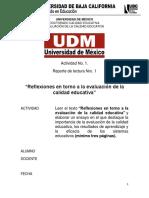 Reporte de La Lectura Evaluación de La Calidad Educativa 2019 Copy