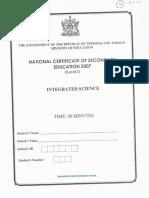 NCSE Mathematics (2014 Paper 1