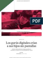 Los Gurús Digitales Crían a Sus Hijos Sin Pantallas _ Sociedad _ EL PAÍS