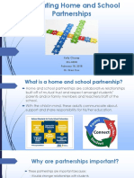 cultivating home and school partnerships