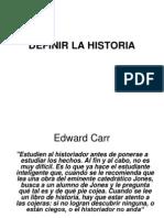 Tema 1 -  definir la història