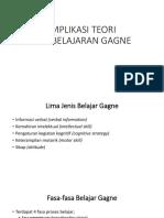 Implikasi Teori Pembelajaran Gagne