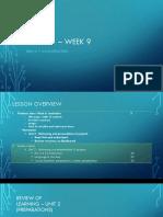 ELC3521 Week 9 Lesson