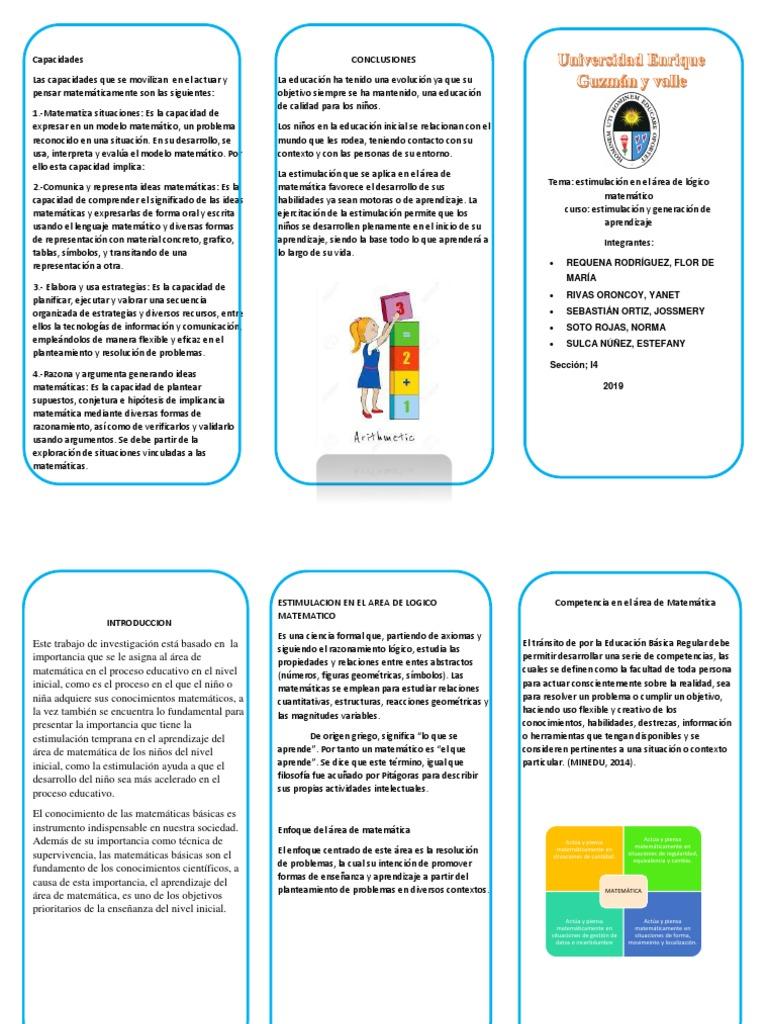 Triptico Docx Ensenanza De Matematica Aprendizaje
