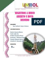 Registro de Pozo a Hueco Abierto Grupo )3