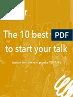 The 10 best ways to start a talk