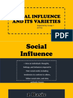Social Influence and Its Varieties