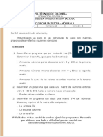 Módulo 2 - Ejercicios - Matrices