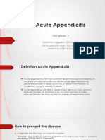 Acute Appendicitis Kel 4