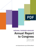 National Taxpayer Advocate Annual Report to Congress 2018 Executive Summary