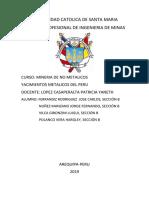 Yacimientos No Metalicos Del Perú