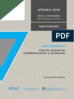 2.2. Nivel Primario Ateneo Didáctico N° 1 Encuentro 2 Segundo Ciclo Matemática Carpeta Participante