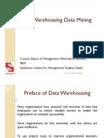 4 Data Warehousing Data Mining