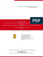 Diferencias en La Administración Premoderna, Moderna y Posmoderna- Propuestas Para Un Debate en Lati
