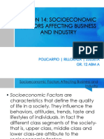 Lesson 14 - Socioeconomic Factors Affecting Business and Industry