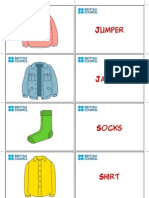 Kids Flashcards Clothes 1
